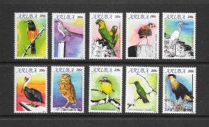 BIRDS - ARUBA #370a-j   MNH