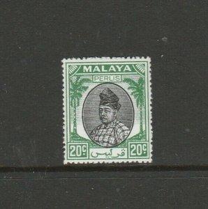 Malaya Perlis 1951/5 20c Black & Green MM SG 18