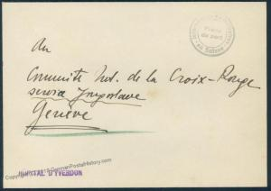 Switzerland WWII Internee Camp Hospital DYverdon Prisoner Cover 53887