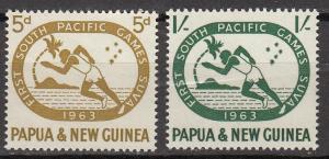 Papua New Guinea - 1963 Sport Games Sc# 176/177 - MNH (341N)