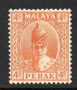 Malaya Perak 1938 KGVI 4c orange SG 107 mint CV £42