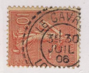 FRANCE - 1906 - CàD FACTEUR-BOÎTIER T.1884  LE GAVRE / LOIRE INFre  sur n°129