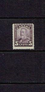 CANADA 1928 FIVE CENT KING GEORGE V SCROLL ISSUE - SCOTT 153 -  MNH