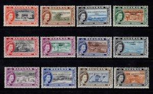 Bahamas 1964 Elizabeth II Definitives optd. 'New Constitution of 1964' Part Set