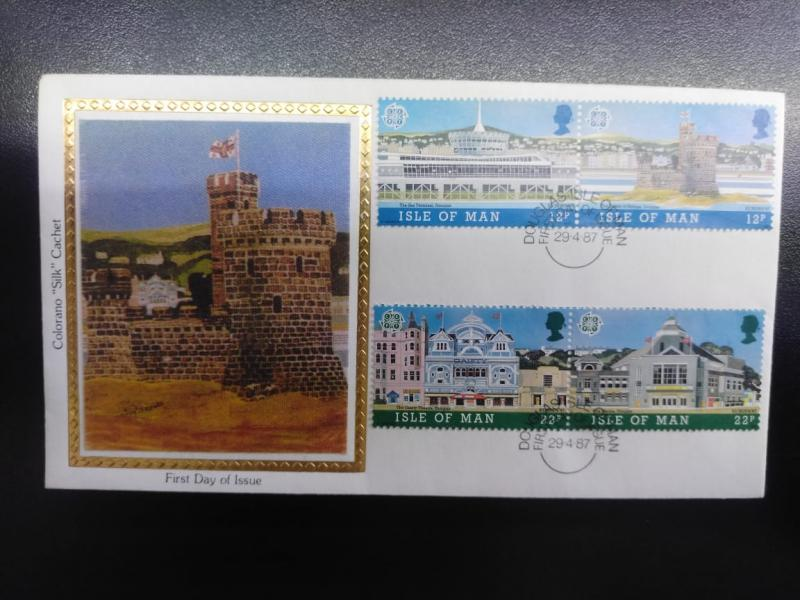W) 1987 ISLE OF MAN, CASTLE, HOUSES TO COLOR MNH