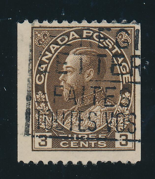 Canada Stamp Scott #134, Used, Coil - Free U.S. Shipping, Free Worldwide Ship...