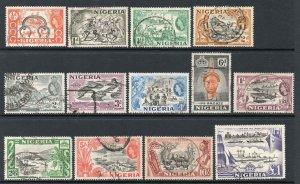 Nigeria 1953 QEII set SG 69-80 used