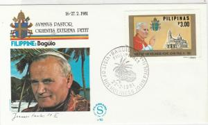 Philippines 1981 pope john paul ll Visit of his Holiness stamps cover ref 21741