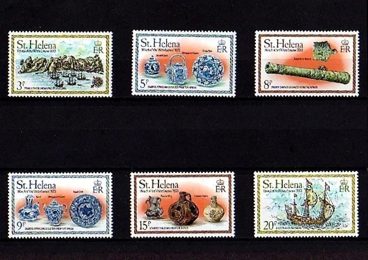 ST HELENA - 1978 - SHIPS - SHIPWRECK - WITTE LEEUW - CANNON ++ 6 X MINT - MNH S