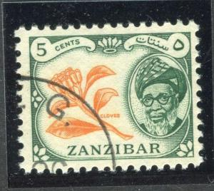 ZANZIBAR;   1957 early Sultan Harub issue fine used 5c. value