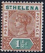 St Helena SG48 hinged mint