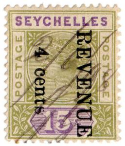 (I.B) Seychelles Revenue : Internal Revenue 4c on 15c OP (reading down)