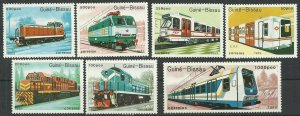 1989 Guinea Bissau 1033-1039 Locomotives 12,00 €
