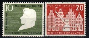 Germany #740-1 F-VF Unused CV $8.75 (X648)