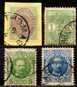 DANISH WEST INDIES. 1873-1907. Various stamps.