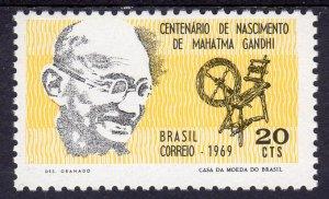 Brazil 1969 Sc#1137 MOHANDAS K.GANDHI Set (1) MNH