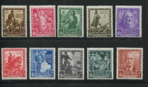 1938 Italy Stamps #400-409 Mint Never Hinged F/VF Proclamation of the Empire