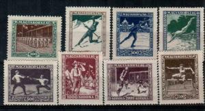 Hungary Scott B80-B87 Mint hinged (Catalog Value $58.00) [TC1780]
