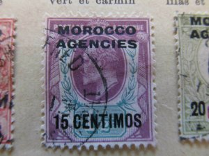 British Morocco 1907-10 15c on 1½p fine used stamp A11P30F14