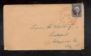 USA #2 Used Fine - Very Fine On Cover With Lovely Red CINN Postmark
