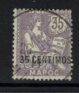 French Morocco - SC# 19 - Used (Very Small Shallow Thin) - Lot 040917