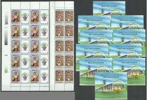 RM066 1990 ROMANIA ART BALKANFILA 91 MICHEL 40 EURO #4675-76 10(SET+BL) MNH