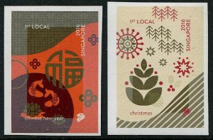 HERRICKSTAMP NEW ISSUES SINGAPORE Sc.# 1810a-11a Festivals 2016  Booklets