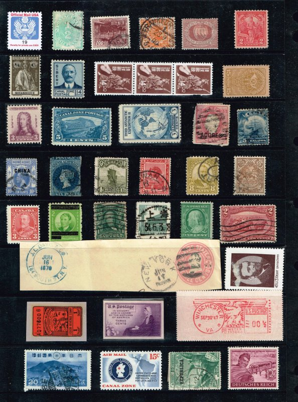 US, WORLDWIDE STAMP ACCUMULATE STAMP COLLECTION LOT #F1