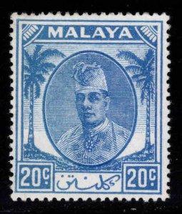 MALAYA Kelantan Scott 68 MH* Sultan Ibrahim stamp