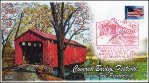 20-184, 2020, Covered Bridge Festival, Event Cover, Pictorial Postmark, Garards