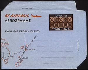 TONGA 9s Tapa airletter - fine unused..........................93795