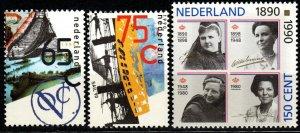 Netherlands #761-3  MNH CV $2.80  (P82)