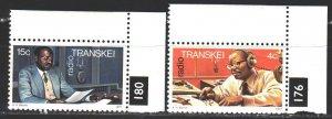 Transkei. 1977. 28-29. Radio in Transkei, South Africa. MNH.