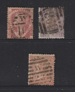 Great Britain x 3 used QV see description