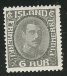 Iceland Scott 113 MH* 1920 dark gray CV$15