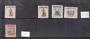 LABUAN 1897 VALUES  MINT TO 24C