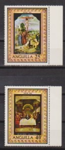 1969 Anguilla Scott 68-69 Easter MNH