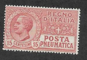 Italy Scott #D3 Mint 15c Pneumatic Post Stamp 2018 CV $16.00