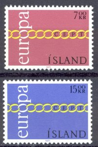 Iceland Sc# 429-430 MNH 1971 Europa