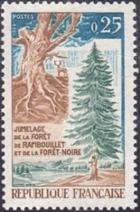 France # 1214 mnh ~ 25¢ Gnarled Trunk and Fir Tree
