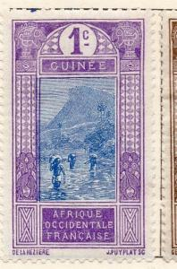 French Guinea 1913 Early Issue Fine Mint Hinged 1c. 105189