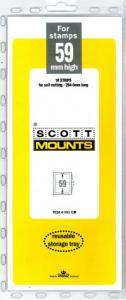 Scott Mounts Clear 59mm STRIP 265mm, (Pgk. 10)(00951C)
