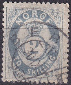 Norway #17  F-VF Used CV $85.00 (Z9593)
