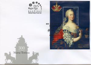 Hungary 2017 FDC Maria Theresa 300th Ann Joint Issue 1v M/S Cover Royalty Stamps
