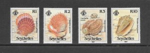SHELLS - SEYCHELLES #614-17  MNH