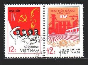 Vietnam. 1976. 880-81. Congress of the Communist Party of Vietnam. USED.