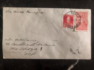 1929 Buenos Aires Argentina First Flight Cover FFC To Mendoza Only Flown 35 B