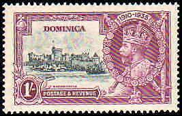Dominica #90-93, Complete Set(4), Never Hinged