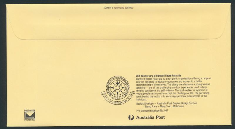 Australia PrePaid Envelope 1981  E94 Outward Bound