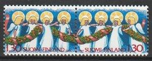 1986 Finland - Sc 745a - MNH VF - 1 pr - Christmas